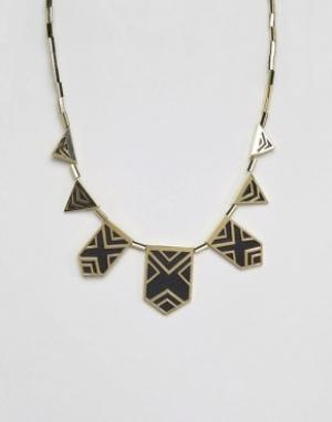 House of Harlow Эффектное ожерелье. Цвет: золотой