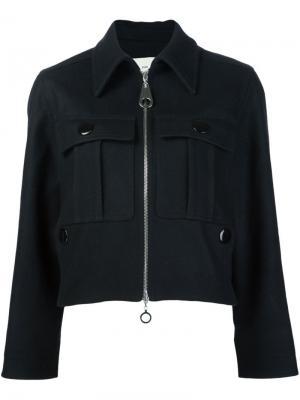 Фетровая укороченная куртка Edun. Цвет: чёрный