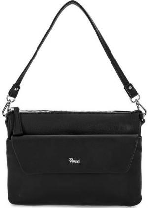 Маленькая кожаная сумка со съемной ручкой Bruno Rossi. Цвет: черный