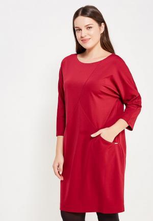 Платье Yarmina. Цвет: бордовый
