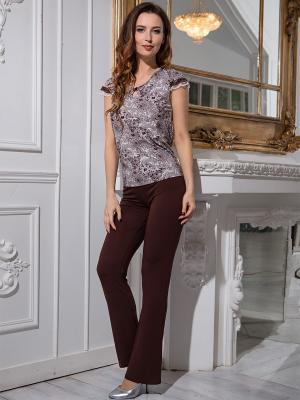 Пижама MIA-MELLA. Цвет: коричневый