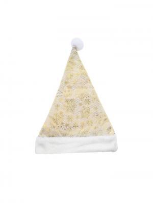 Колпак Снежиночки А М Дизайн. Цвет: золотистый, персиковый, кремовый, белый