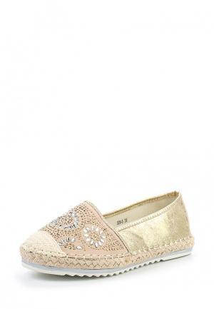 Эспадрильи Max Shoes. Цвет: золотой