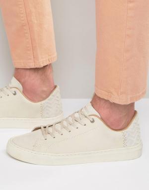 Toms Кожаные кроссовки Lenox. Цвет: белый
