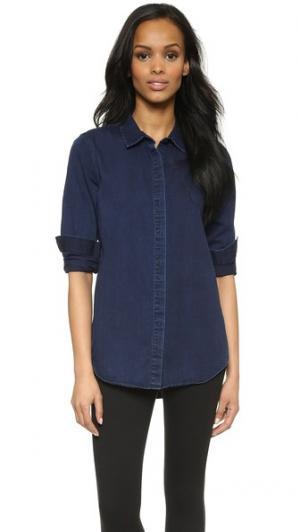 Рубашка из денима AYR. Цвет: темный индиго