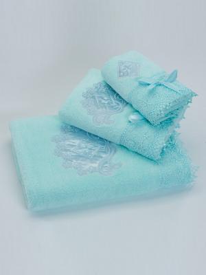 Полотенце Рококо Романтика. Цвет: светло-голубой