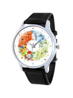 Дизайнерские часы Seasons Tina Bolotina. Цвет: черный, белый, желтый