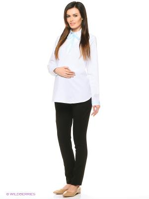 Блуза UNIOSTAR. Цвет: белый, голубой