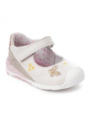 Туфли PlayToday. Цвет: розовый, белый, золотистый