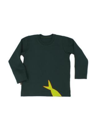 Свитшот с хвостом Sardina Baby. Цвет: темно-зеленый