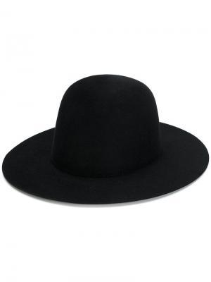 Шляпа с широкими полями Études. Цвет: чёрный