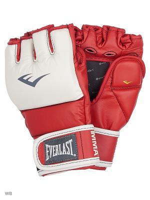 Перчатки тренировочные MMA Grappling Everlast. Цвет: красный
