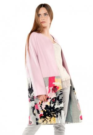 Пальто Yukostyle. Цвет: розовый