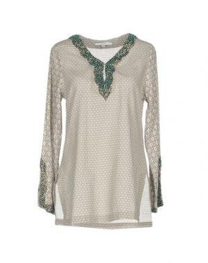 Блузка GAZEL. Цвет: серый