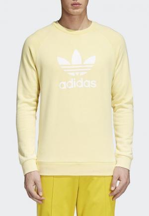 Свитшот adidas Originals. Цвет: желтый