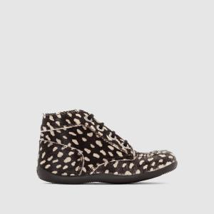 Ботинки кожаные Bonbon KICKERS. Цвет: черный/ бежевый