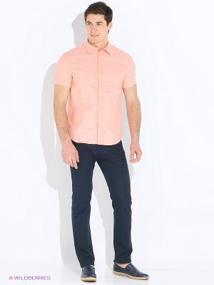 Рубашка INCITY. Цвет: персиковый, бледно-розовый