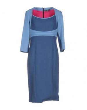 Платье до колена IVAN MONTESI. Цвет: грифельно-синий
