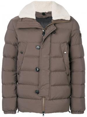 Hooded padded jacket Peuterey. Цвет: коричневый