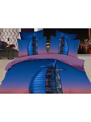 Постельное белье 2сп 70*70 Diva Afrodita. Цвет: синий