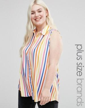 Koko Рубашка в полоску Plus. Цвет: мульти