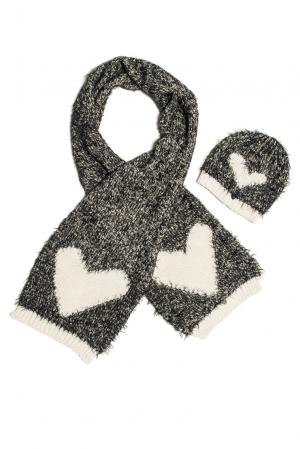 Комплект (шапка и шарф) 153114 Sos Chic. Цвет: монохром