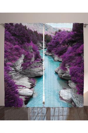 Комплект штор, 290x265 см MAGIC LADY. Цвет: сиреневый, голубой