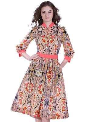 Платье OLIVEGREY. Цвет: коралловый
