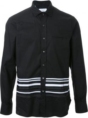 Рубашка с полосатым узором Ovadia & Sons. Цвет: чёрный