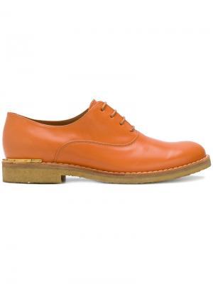 Классические ботинки Дерби Marc Jacobs. Цвет: жёлтый и оранжевый