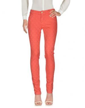 Повседневные брюки MANILA GRACE DENIM. Цвет: красный
