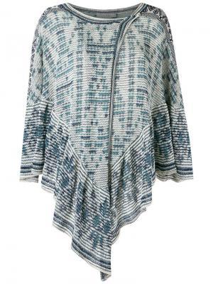 Knit poncho Cecilia Prado. Цвет: белый