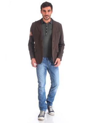Пиджак VON DUTCH. Цвет: темно-коричневый