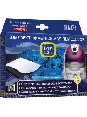 Top house TH MCF2 Набор универсальных фильтров для пылесосов. Цвет: синий