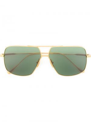 Солнцезащитные очки Flight 005 Dita Eyewear. Цвет: металлический