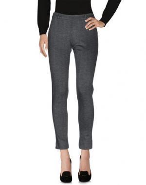 Повседневные брюки LUCKY LU Milano. Цвет: стальной серый