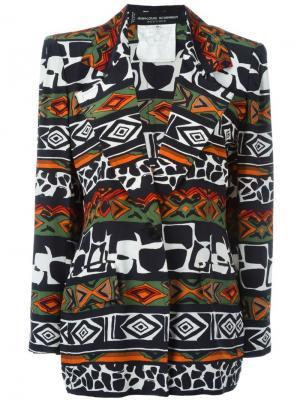 Куртка с орнаментом Jean Louis Scherrer Vintage. Цвет: многоцветный