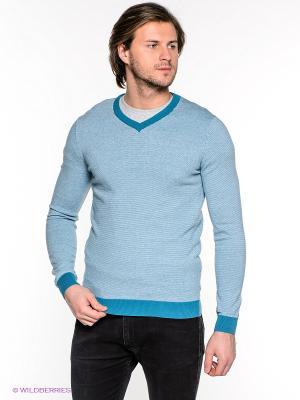 Пуловер INCITY. Цвет: бирюзовый