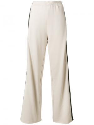 Широкие брюки с лампасами Nude. Цвет: телесный