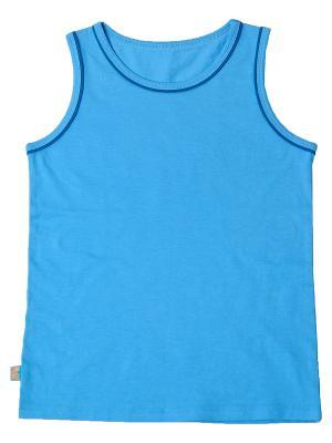 Майка KitFox. Цвет: голубой
