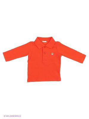 Лонгслив United Colors of Benetton. Цвет: красный, серый меланж