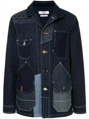 Джинсовая куртка с заплатками Fdmtl. Цвет: синий