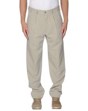 Повседневные брюки MESSORI. Цвет: светло-серый