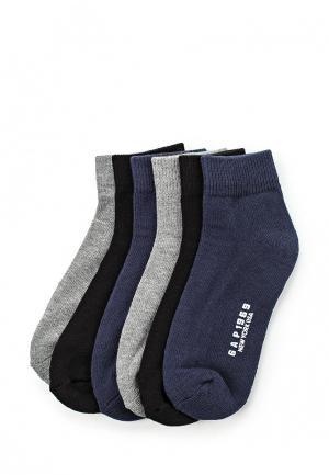 Комплект носков 6 пар Gap. Цвет: разноцветный