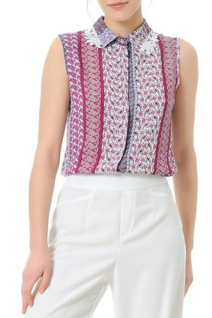 Рубашка Dewberry. Цвет: розовый