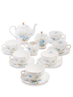 Чайный сервиз Санта Магдалена голуб (Pavone) Pavone. Цвет: белый