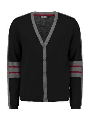Кардиган DKNY. Цвет: черный