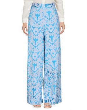 Повседневные брюки CAPSULE. Цвет: лазурный