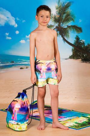 Пляжные шорты LOVE MADE. Цвет: мультицвет