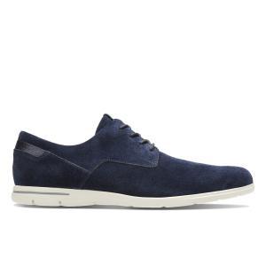 Ботинки-дерби из замши Vennor Walk CLARKS. Цвет: синий морской,темно-коричневый